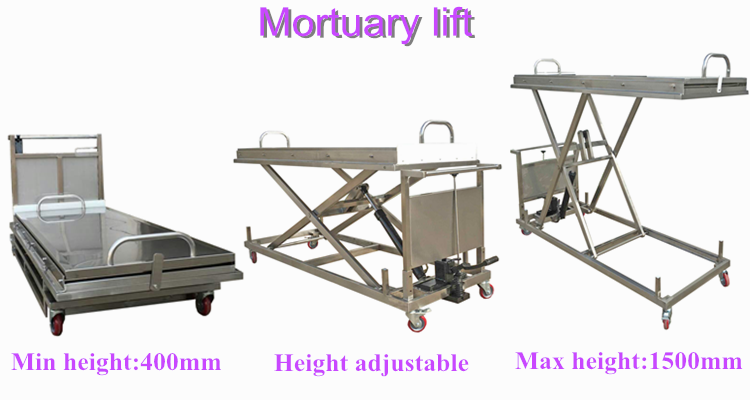 hydraulic mortuary stretcher