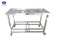 Mortuary Dissecting Cart Mortuary stainless steel table RD-1511