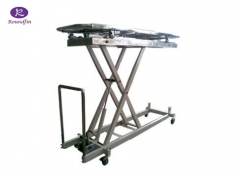 Morgue corpses body lifter hydraulic stainless steel cart RD-1529