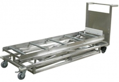 Morgue stainless steel Trolley Hydraulic Lifter/lifting cart RD-1527