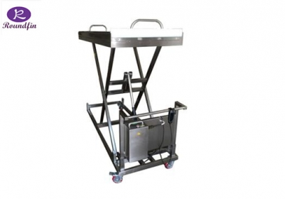 High Quality Mortuary corpses lifting cart with foot/hydraulic model RD-1527 lifting height:400 to 1500mm