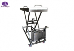 High Quality Mortuary corpses lifting cart with electrical model RD-1527E Lifting height: 400 to 1500mm