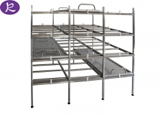 Mortuary storage rack