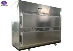 High Quality Staineless steel 2 bodies side opening door cadaver cooling box corpse refrigerator for mortuary