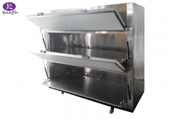 High Quality Roundfin corpse cold box mortuary body cooler mortuary cadaver cabinet