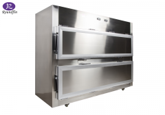 Double Open Medical instrument stainless steel autopsy tools cadaver bed mortuary refrigerator